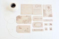 DIY wooden stamped gift/favor tags