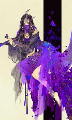 "Wudu (Five Poisons) from ""Yi Chui Wu Yue Tiao Man Ji"" by Ibuki Satsuki 伊吹五月 Fantasy Character Design, Character Inspiration, Character Art, Anime Art Girl, Chinese Art, Chinese Painting, Asian Art, Japanese Art, Art Reference"