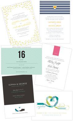 top left - confetti around the invite. love!