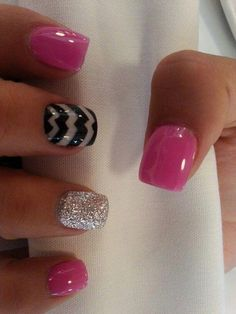 Gel Nail Designs You Should Try Out – Your Beautiful Nails Hot Nails, Pink Nails, Glitter Nails, Nude Nails, Pink Glitter, Toe Nail Designs, Acrylic Nail Designs, Acrylic Nails, Fancy Nails
