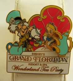Disney Pin Alice in Wonderland Grand Floridian Mad Hatter Tea Party