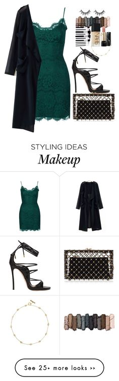 """OUTFIT: The Second Date"" by awomanofparis on Polyvore featuring Topshop, Dsquared2, Charlotte Olympia, Urban Decay, Lancôme, NARS Cosmetics, Tory Burch, dress and emerald"