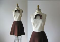 vintage 1960s dress / 60s dress / Chocolate Cookie by Dronning on Etsy https://www.etsy.com/listing/243487395/vintage-1960s-dress-60s-dress-chocolate