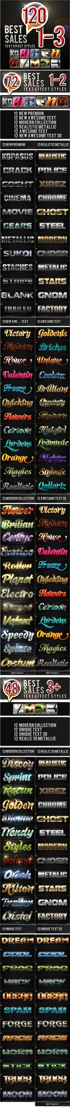 120 Best Sales_1-3 Bundle  120 Best Sales_1-3 Bundle 12 New Premium Metal Styles 12 New Awesome Text Effect Styles12 Modern Collec