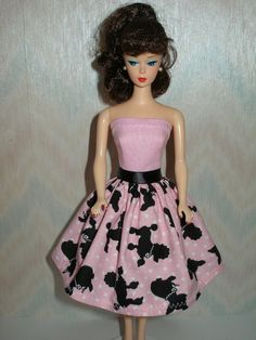 Handmade+Barbie+clothes++Pink+white+and+black+by+TheDesigningRose,+$7.00