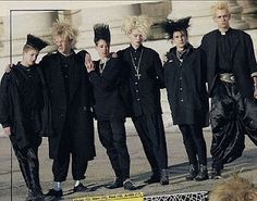 Original '80s German goths (grufties) with their geometric hair