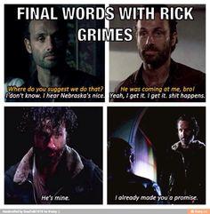 Rick's final words