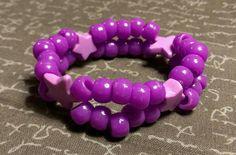 This item is unavailable Kandi Bracelets, Beaded Bracelets, Kids Jewelry, Unique Jewelry, Pony Beads, Rave, Lavender, My Etsy Shop, Stars
