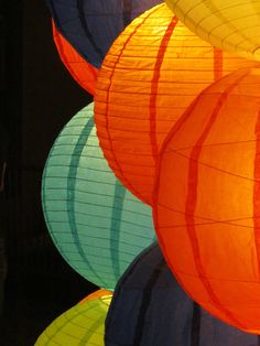Paper Lanterns at San Antonio Luminaria