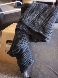 Ravelry: There's a Chill in De Aire Blanket pattern by Heather Walpole