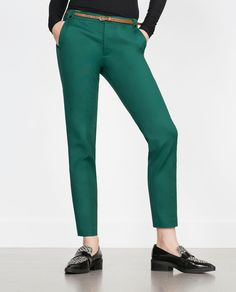 Image 3 of DOUBLE FABRIC TROUSERS from Zara