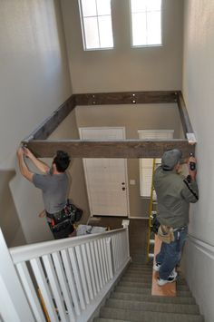 creating a loft out of a two story foyer...