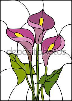 Ramo de flores de lirio - Ilustración de stock: 82358058