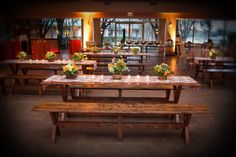 Meetings & Events at @fsdallas | Meritage Events | Pavilion | Rustic dinner set up