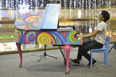 Sing for Hope sets up hundreds of public pianos in New York throughout the year and then donates them to public schools, as well as various kinds of other art and music to community spaces.