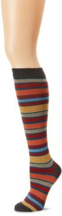 PACT Women's San Francisco Stripe Knee Sock-3, Multi Colored, One Size PACT. $12.00