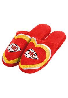 Kansas City Chiefs Glitter Slide Womens Slippers