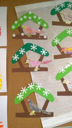 2017 New Year Mixed Super Art Events – Preschool Activity Fa … - Spring Crafts For Kids Winter Crafts For Kids, Winter Kids, Winter Art, Spring Crafts, Diy Crafts For Kids, Art For Kids, Kids Diy, Bird Crafts, Animal Crafts