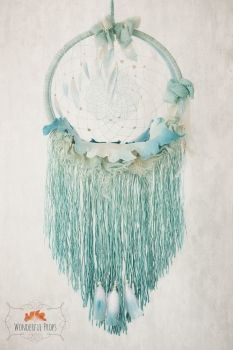 Wonderful Props - Dreamcatcher & Blanket - Mint - Newborn Photography Prop