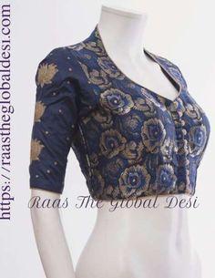 New Dress Designer Indian Pattern 21 Ideas Brocade Blouse Designs, Blouse Designs High Neck, Fancy Blouse Designs, Blouse Neck Patterns, Kurta Designs, Dress Designs, Blouse Designs Catalogue, Stylish Blouse Design, Indian Blouse