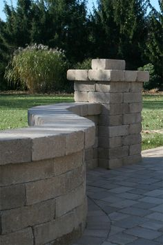 Yorkshire™ Wall is a tumbled, single-piece system that is perfect for garden wall applications. Because of the wall's symmetry, it can be turned in different directions to create a unique look. It's also great for fire pits, outdoor kitchens, building steps and sitting walls. How To Build Steps, Free Standing Wall, Backyard, Patio, Outdoor Living, Outdoor Decor, Sit Back, Stepping Stones, Building Steps