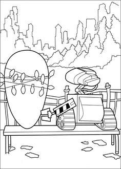 Wall-E Tegninger til Farvelægning for børn 10