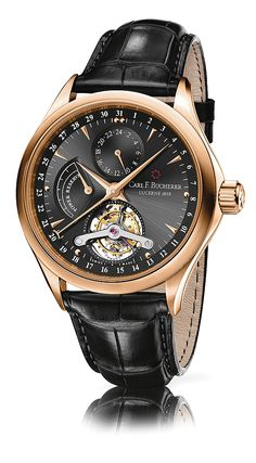 The Carl F. Bucherer Manero Tourbillon Limited Edition is the brand's first tourbillon timepiece. The watch — which commemorates the 125th anniversary of founder Carl Friedrich Bucherer opening his first watch and jewelry shop in Lucerne, Switzerland.