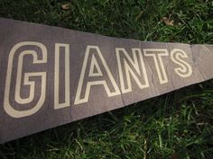 vintage souvenir sports pennant, football, new york giants, giants stadium. $10.00, via Etsy.- but with his name