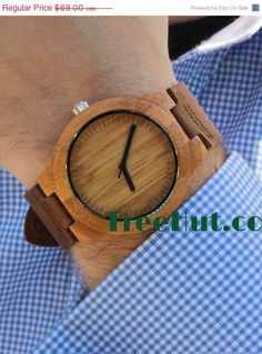 SALE Wedding gifts Engagement Wood Watch by TreeHutDesign on Etsy