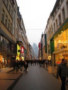 Rue Neuvle is an affordable shopping street in Brussels.