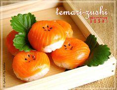 Temari-zushi - one type of the bijutsu-zushi (direct translation will be 'art-sushi') aka decorative sushis that sushi chefs prepare for special occasions. #sushi