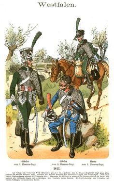 Knötel-Tafel 07/15   Westfalen. Husaren. 1812.