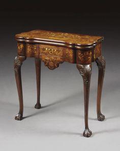 A games table -  Dutch, 19th century
