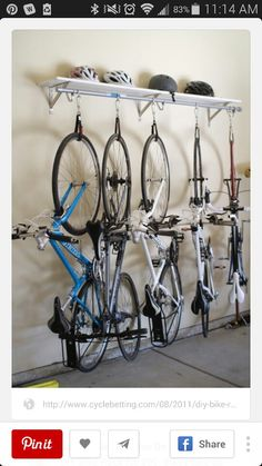 Think having an organized garage is just a dream? Since we often enter our homes via the garage, it would be great if our garages were organized, functional, and pretty, right? Here are 12 organized garage ideas! Garage Velo, Garage Shed, Garage House, Bicycle Storage Garage, Dream Garage, Bike Racks For Garage, Storing Bikes In Garage, Garage Workbench, Vertical Bike Storage