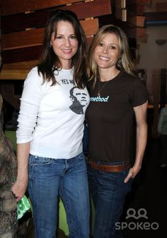 Paula Marshall - with Julie Bowen at a charity event on Earth Day, Paula Marshall, Julie Bowen, Charity Event, Earth, Actresses, People, T Shirt, Tops, Women