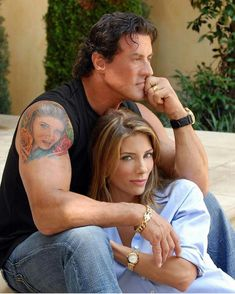 Sylvester Stallone and wife Jennifer Flavin Jennifer Flavin, Sylvester Stallone Wife, Silvestre Stallone, Action Movie Stars, Oldschool, Rocky Balboa, The Expendables, Star Wars, Interview