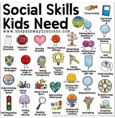 """Social skills for kids, Kids learning, Parenting, Raising kids, Kids education, Kids - Occupational Therapy ABC on Instagram """"SOCIAL SKILLS  Social skills are the skills we use to communicate and in -  #Socialskills #forkids"""