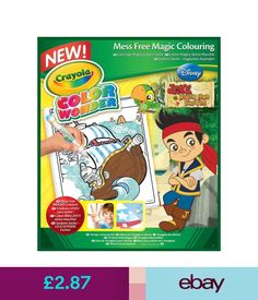Creative Toys Activities Crayola Disney Jr Jake And The Neverland Pirates Mess Free Magic Colouring