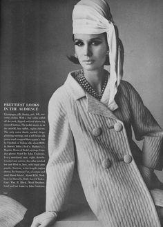 Brigitte Bauer, March Vogue 1964 | Seymour Fox