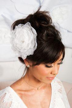 Image of Organza flower headpiece - Mazie