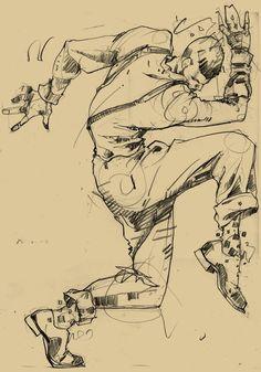 "Charcoal Drawing Techniques turecepcja: "" Harlem Swing Dance Studies by Martin French "" - Guy Drawing, Figure Drawing, Harlem, Sketchbook Inspiration, Digital Illustration, French Illustration, Creative Illustration, Art For Art Sake, Dance Art"