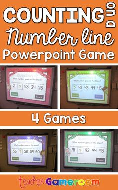 Counting on a number line from 0 to 100. Interactive powerpoint game bundle that includes 4 games. CCSS aligned.