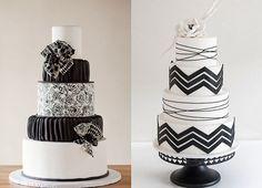 Hochzeitstorten in schwarz weiß | Friedatheres.com