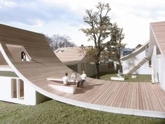 屋根をデザインした住宅