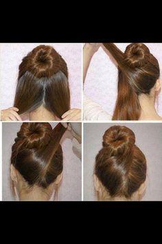 Criss Cross Hair Bun. This can also used as a wedding hair#nice#