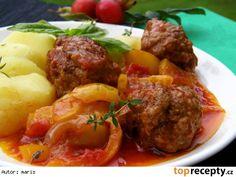 Masové kuličky na zelenině a bylinkách Czech Recipes, Ethnic Recipes, Snack Recipes, Snacks, Menu, Treats, Dinner, Czech Food, Meatball