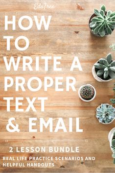 Teach students the proper vocabulary and etiquette to using text messages and creating efficient emails. Grades 6-12.
