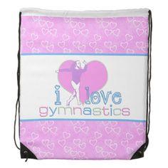 Pastel I Love Gymnastics Backpack #gymnastics