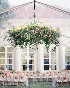 Once Wed | Floral chandelier | Photo by @ryleehitchner.