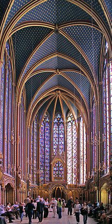 La Sainte Chapelle  Sainte Chapelle .PARIS 4 (CW6-4). Blvd. du Palais, Ile de la Cite. On my list to see this time.